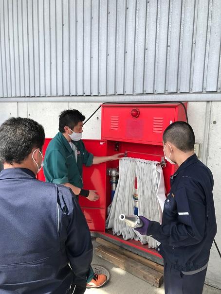 弘前倉庫 消火訓練
